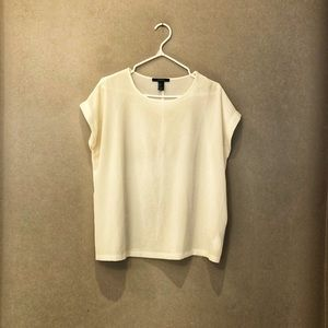 F21 White Blouse